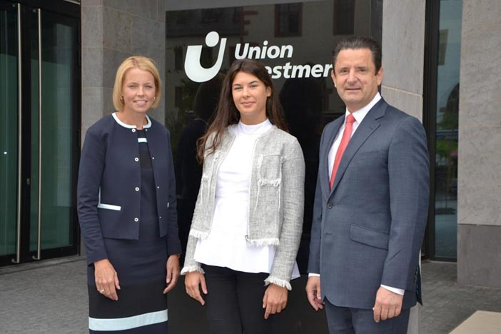 Globe College student Lucija at Union Investment, Germany