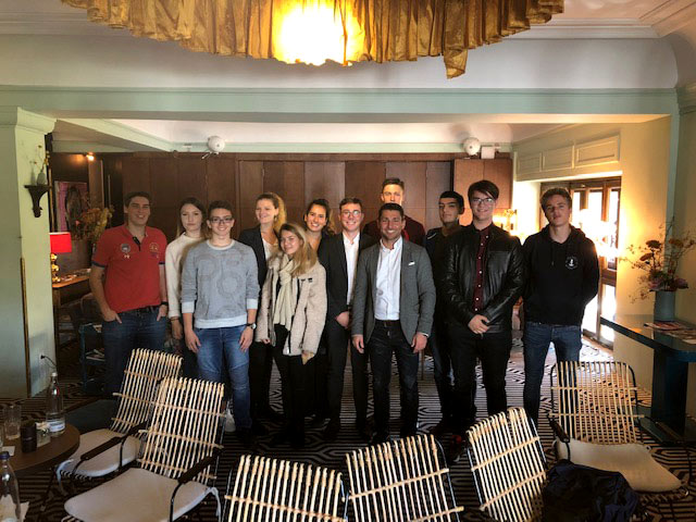 Globe College Students Visit Hearthouse, Munich