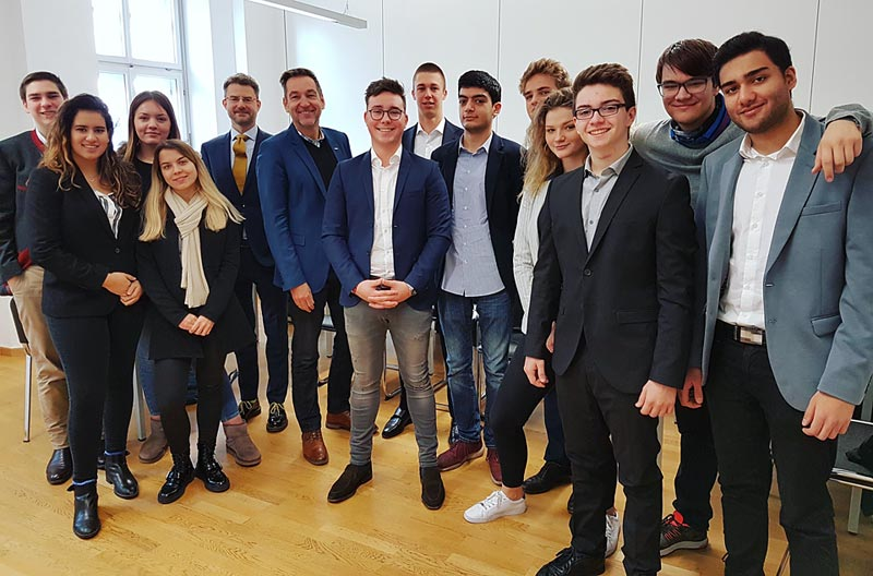 Globe College students with Matthias Lehner, CEO of Bodystreet