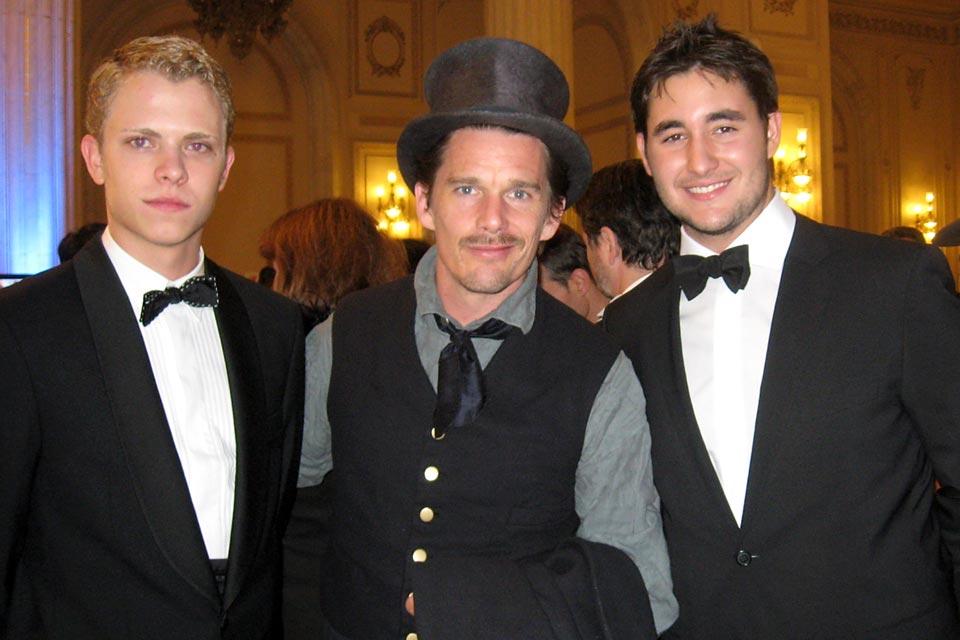 Globe College alumni with actor Ethan Hawke, Ovidiu Rom Charity Ball, Romania