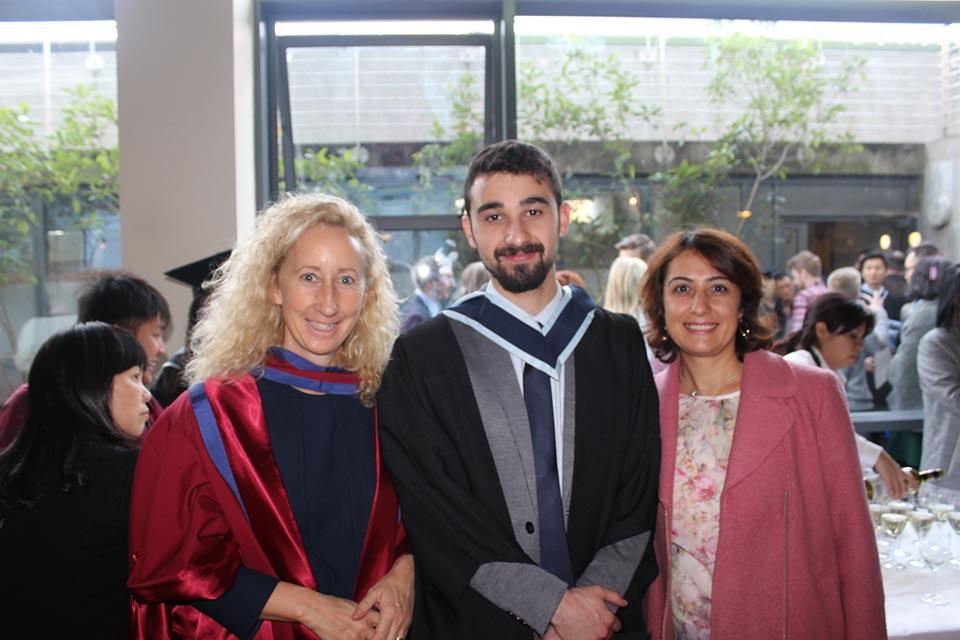 Globe Business College alumnus with proud parent